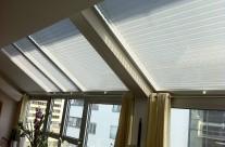 Plisségardiner för takfönster