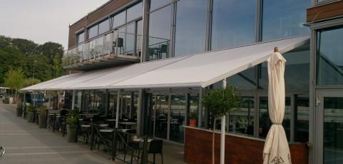 Restaurang NEO har fått solskydd på terrassen!